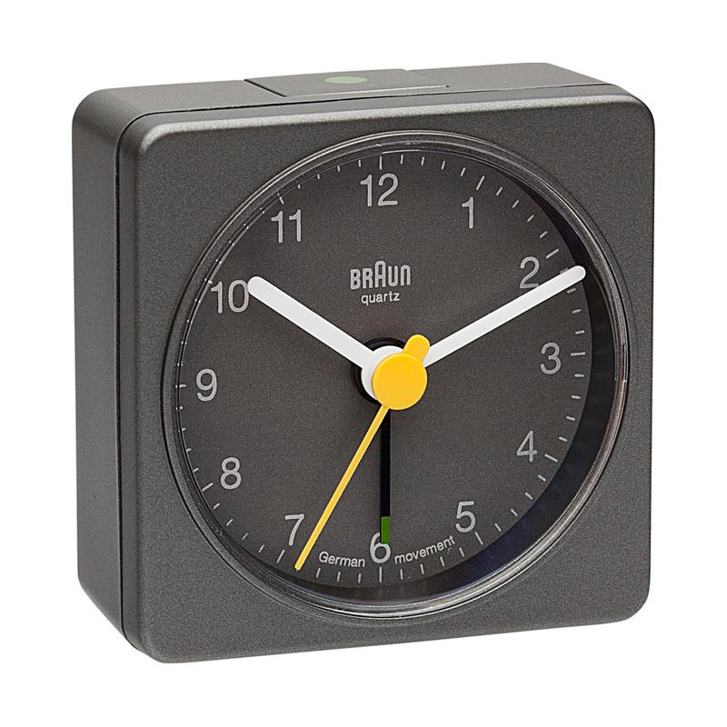 BNC002 GREY - Analog Alarm Clock BRAUN