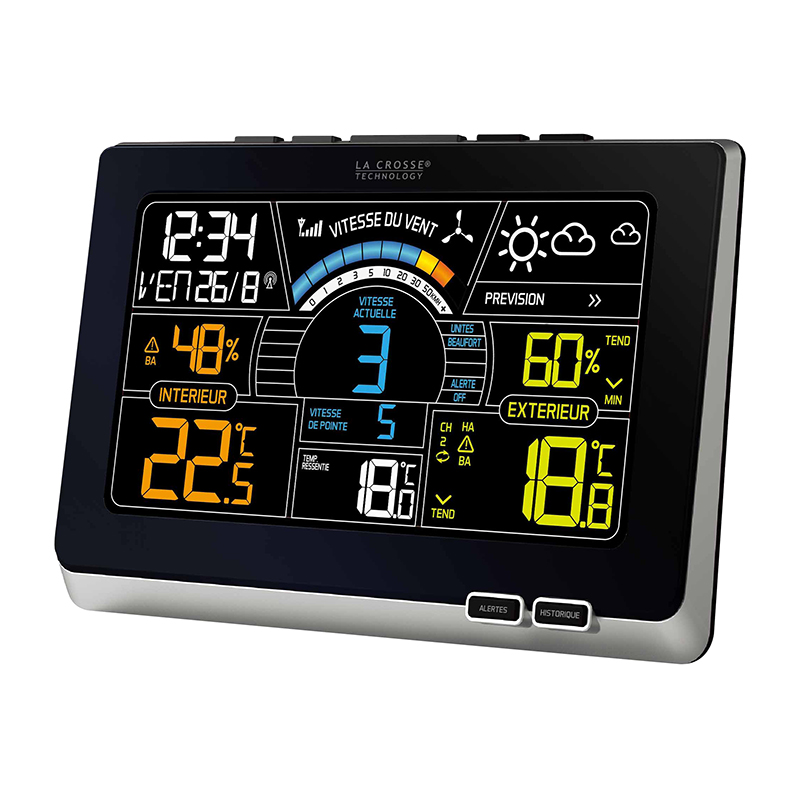 High Point Lacrosse >> WS6860 BLACK SILVER - Colored weather station LA CROSSE TECHNOLOGY - Météotronic