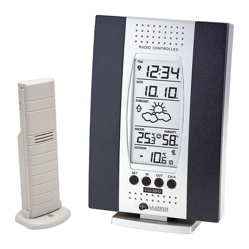 WS7014 SILVER BLEU - Simple weather station LA CROSSE TECHNOLOGY ...