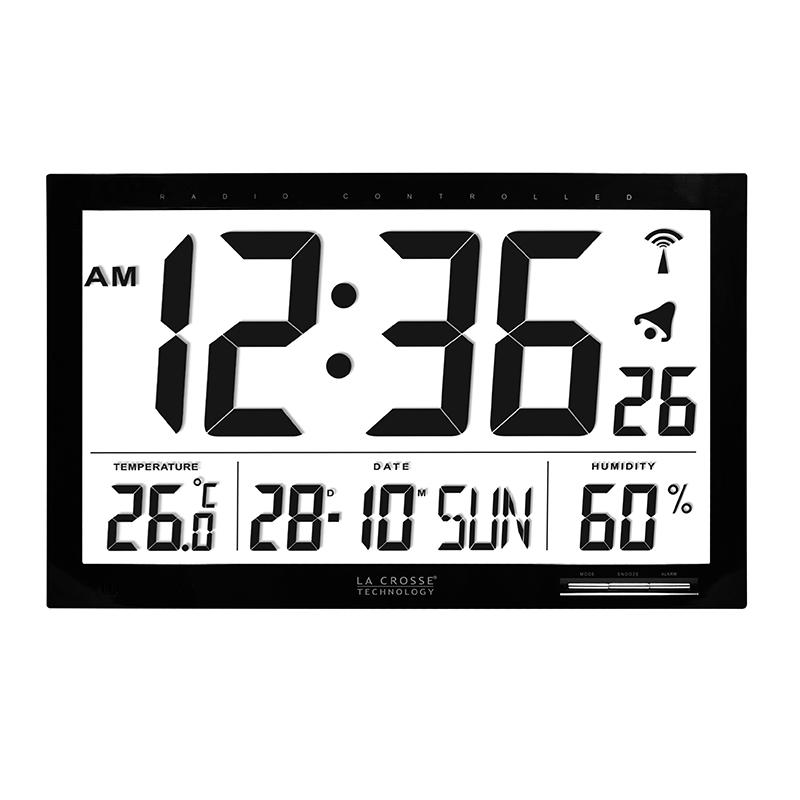 WS8007 BLACK Clock LA CROSSE TECHNOLOGY Mtotronic