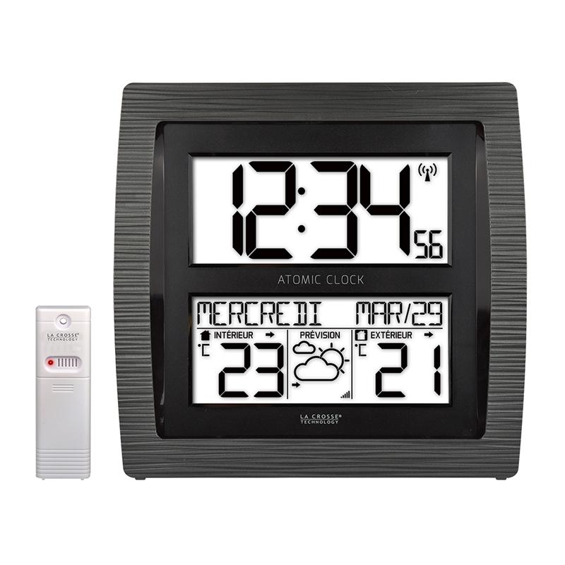 Wall Clock Ws8030 Black Clock La Crosse Technology Mtotronic